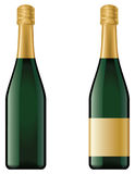 Champagne bottle. No mesh or transparency, blend and gradient only Stock Photos