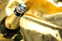 Champagne bottle. Neck and cork Stock Photography