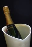 Champagne bottle. Champagne inside a decorated bucket Royalty Free Stock Photos