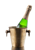 Champagne bottle in a bucket Royalty Free Stock Photo