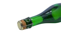 Champagne bottle close-up Stock Photo