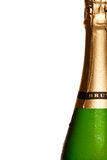 Champagne bottle close up isolated on white Royalty Free Stock Photos