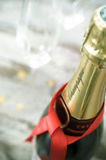 Champagne bottle stock image