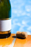 Champagne Bottle And Cork Royalty Free Stock Image