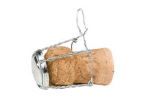 Champagne Bottle Cork. Isolated on a white background Royalty Free Stock Images