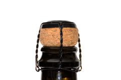 Champagne bottle and cork Stock Photography