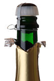 Champagne bottle and cork Royalty Free Stock Photos
