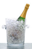 Champagne Bottle in Crystal Bucket Stock Photos