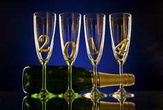 Champagne 2014 Royalty Free Stock Photo