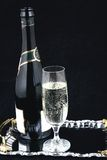 Champagne bottle and glass VI Royalty Free Stock Photos