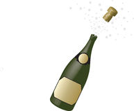 Champagne in the bottle Royalty Free Stock Photos