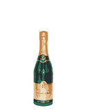 Champagne Bottle Green and Gold Royalty Free Stock Images