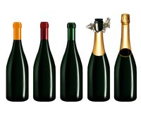 Champagne Bottle Isolated On White Royalty Free Stock Photography