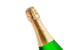 Champagne Bottle Isolated On White Background Royalty Free Stock Photography
