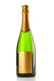 Champagne bottle isolated Royalty Free Stock Image