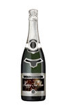 Champagne bottle with New Year label Stock Photography