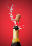 Champagne  bottle opening Royalty Free Stock Photo