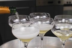Champagne Bottle Ready For Celebration Royalty-vrije Stock Afbeeldingen