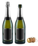 Champagne bottle set Royalty Free Stock Images