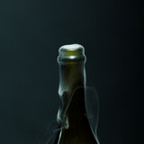 Champagne bottle with smoke Stock Photos