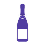 Champagne bottle vector icon. On white background Stock Photography