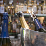 Champagne bottles Stock Images