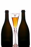 Champagne bottles & flutes Stock Photos