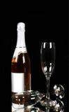 Champagne - bouteille et verre Photos libres de droits