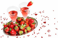 Champagne breakfast Royalty Free Stock Images