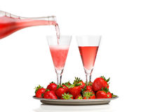 Champagne breakfast Royalty Free Stock Photography