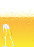 Champagne bubbles Royalty Free Stock Photography