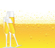 Champagne bubbles Stock Images