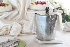 Champagne in a bucket Royalty Free Stock Photos