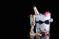 Champagne Bucket with Copyspace Stock Photos