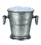 Champagne bucket, full with ice isolated on white Stock Images