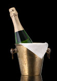 Champagne in a bucket of ice Royalty Free Stock Photo