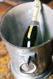 Champagne bucket in vintage room Stock Photo