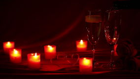 Champagne and candles stock video footage