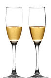 Champagne CAVA. Two glasses full of cava Royalty Free Stock Photography