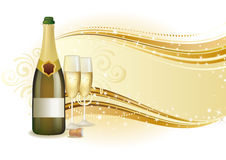 Champagne celebrate background Royalty Free Stock Images