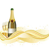 Champagne celebrate background. Vector illustration of champagne celebrate holiday Royalty Free Stock Photos