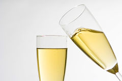 Champagne for celebrate christmas festive Royalty Free Stock Photo
