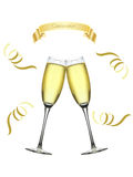 Champagne Celebration. Cheers celebration with champagne glasses Stock Image