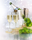 Champagne.Celebration Image libre de droits