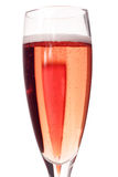Pink Champagne celebration. Champagne celebration flutes royalty free stock photos