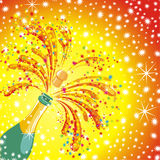 Champagne celebration background. Vector  Stock Photography