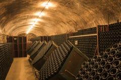 Champagne Cellar i Hautvillers Frankrike Arkivfoto