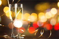Champagne. Celebrate champaign background anniversary wine new Royalty Free Stock Photo