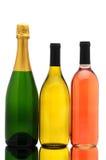 Champagne Chardonnay und weißer Zinfandel Stockfoto