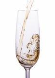 Champagne che versa in vetri Fotografia Stock
